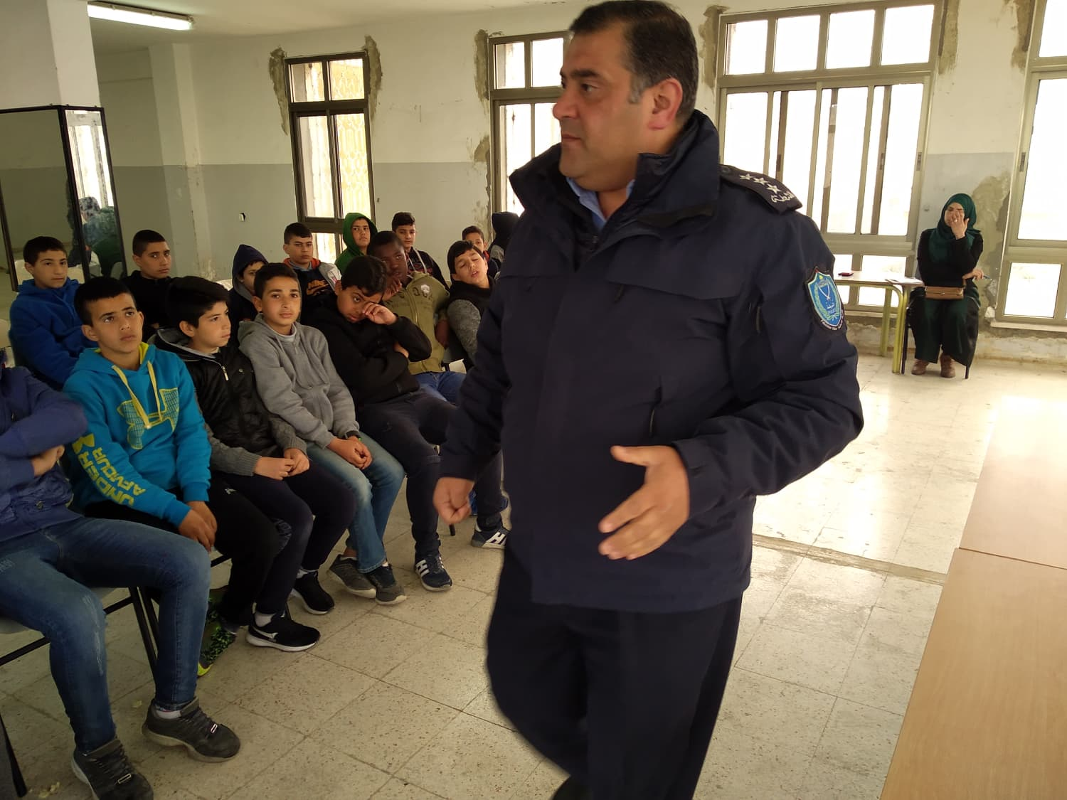 A guided lecture by the Palestinian Police