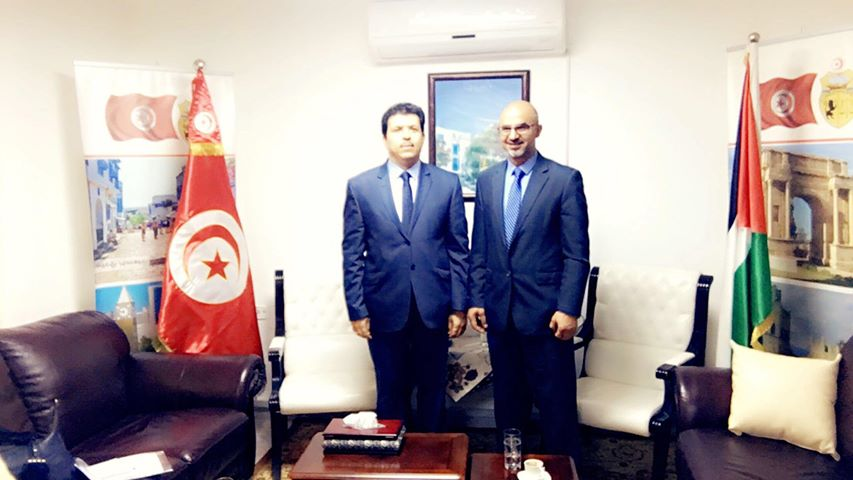 Meeting with HE the Tunisian Ambassador in Palestine
