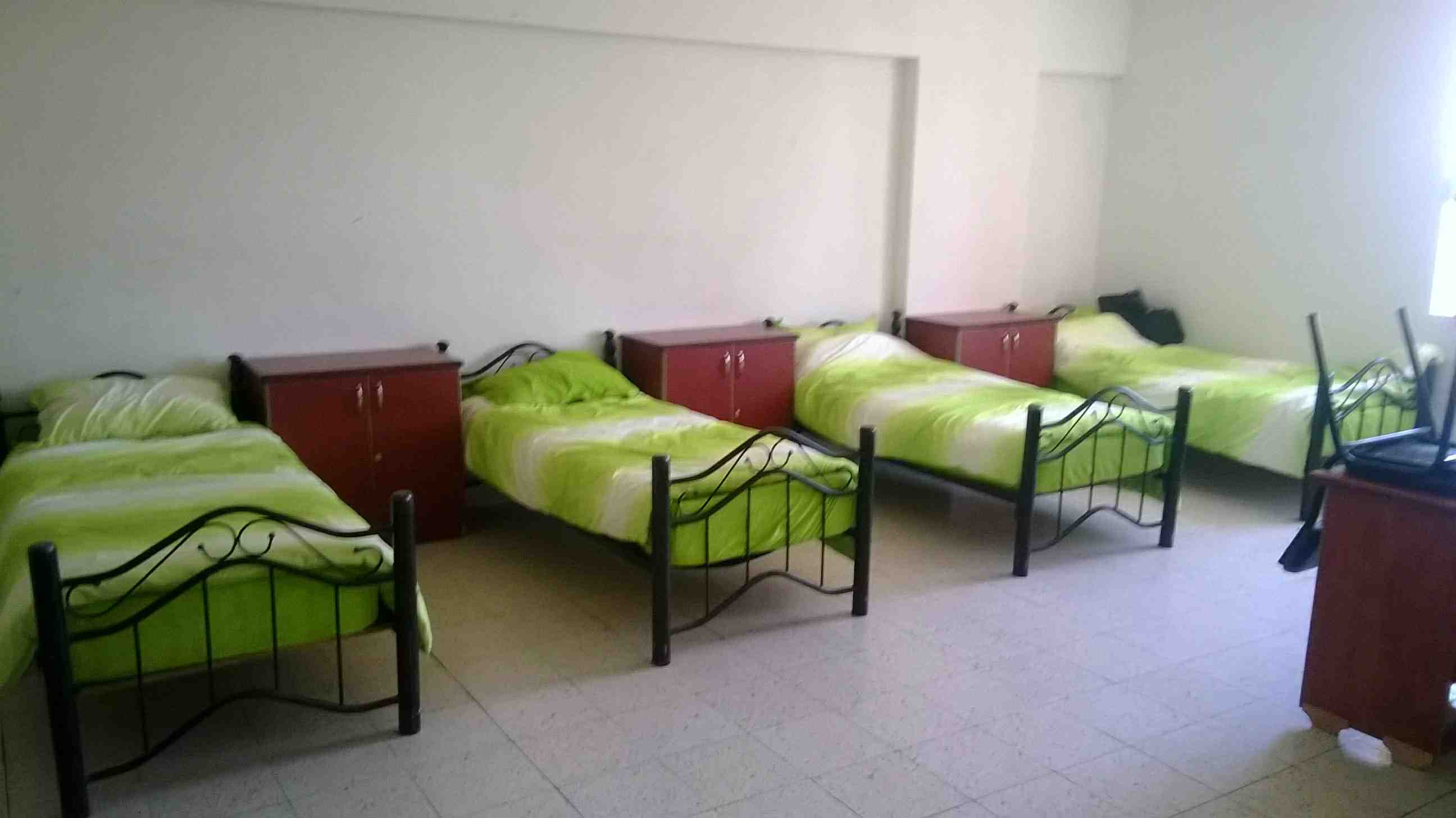 Students sleep places